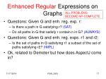 enhanced regular expressions on graphs