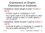 expressions on graphs expressions on instances