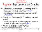 regular expressions on graphs