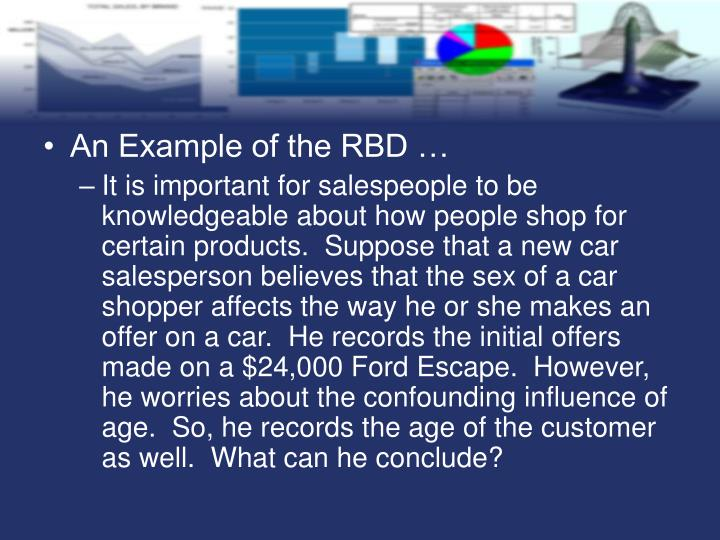 An Example of the RBD …