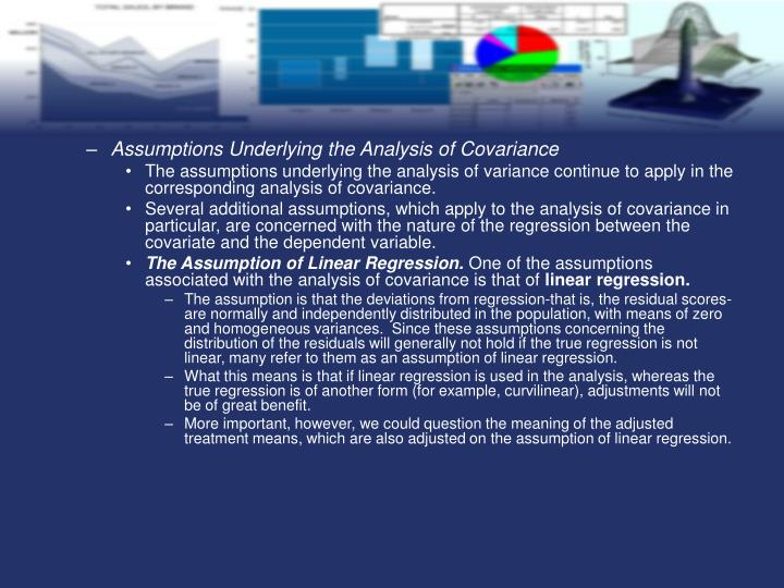 Assumptions Underlying the Analysis of Covariance