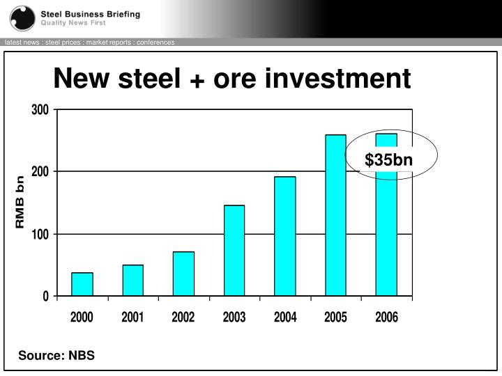 New steel + ore investment