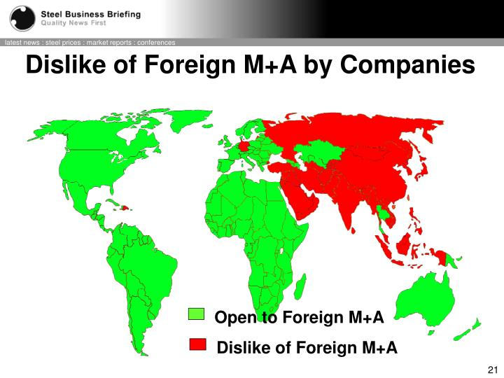 Open to Foreign M+A