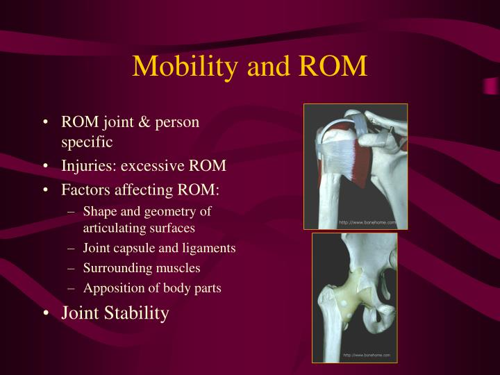 Mobility and rom