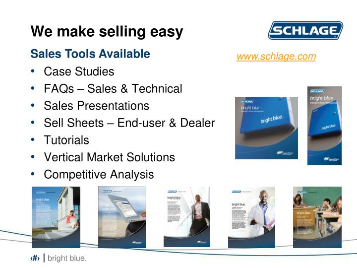 We make selling easy