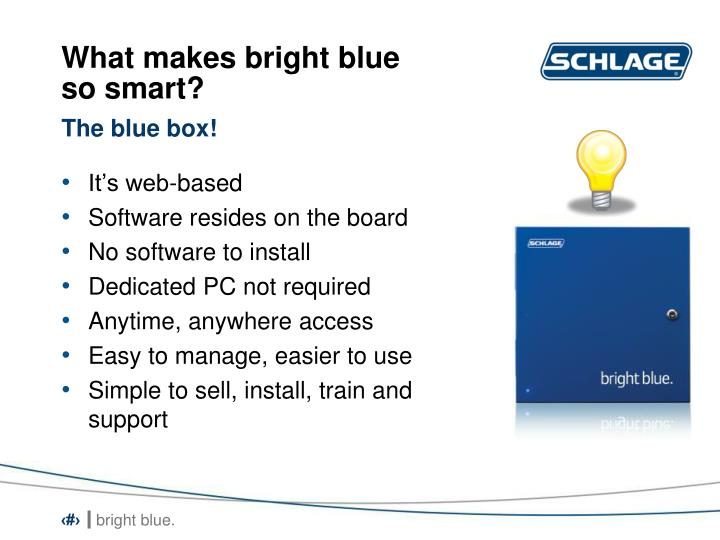 What makes bright blue so smart?