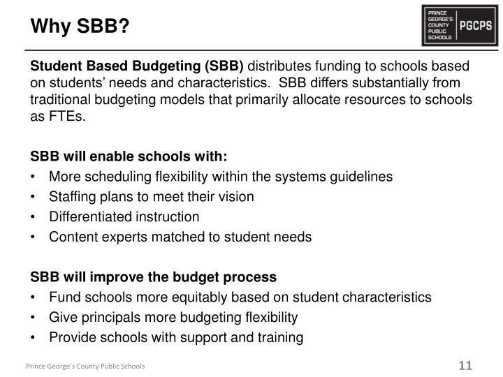 Why SBB?