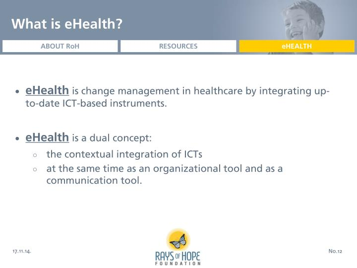 What is eHealth?