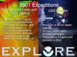 2001 expeditions