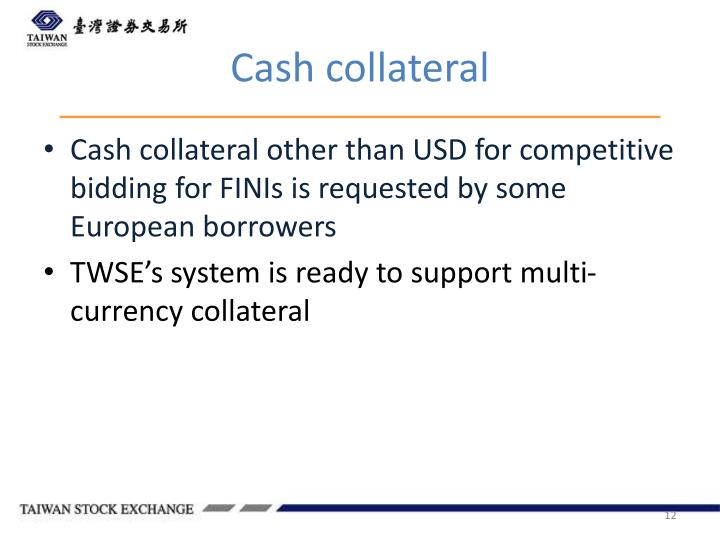 Cash collateral