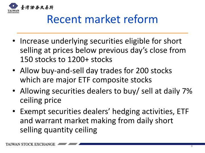 Recent market reform