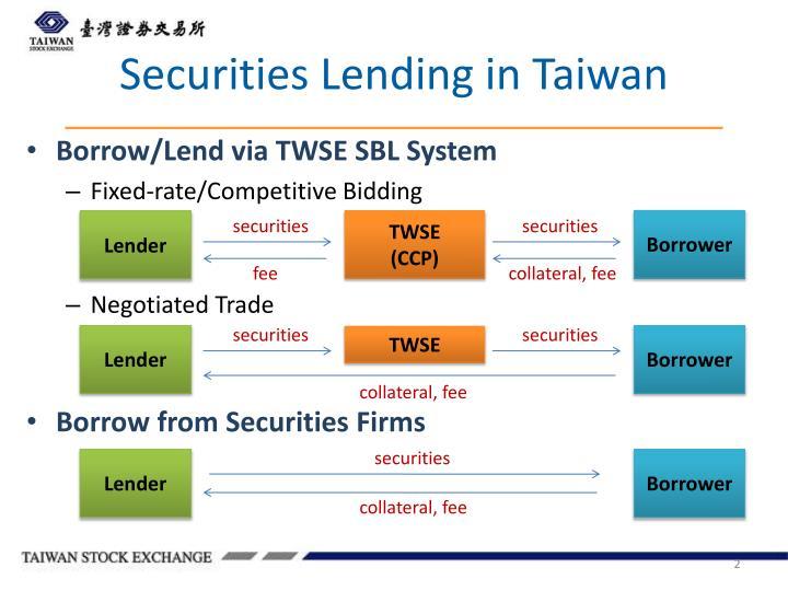Securities Lending in Taiwan
