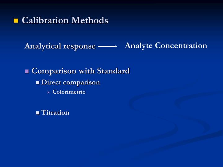 Calibration Methods