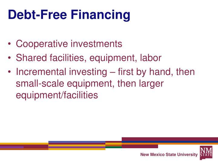 Debt-Free Financing