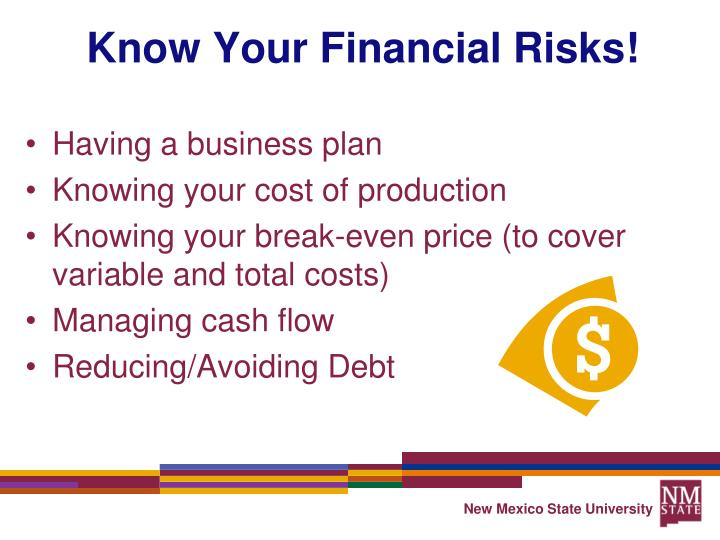 Know Your Financial Risks!