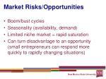 market risks opportunities