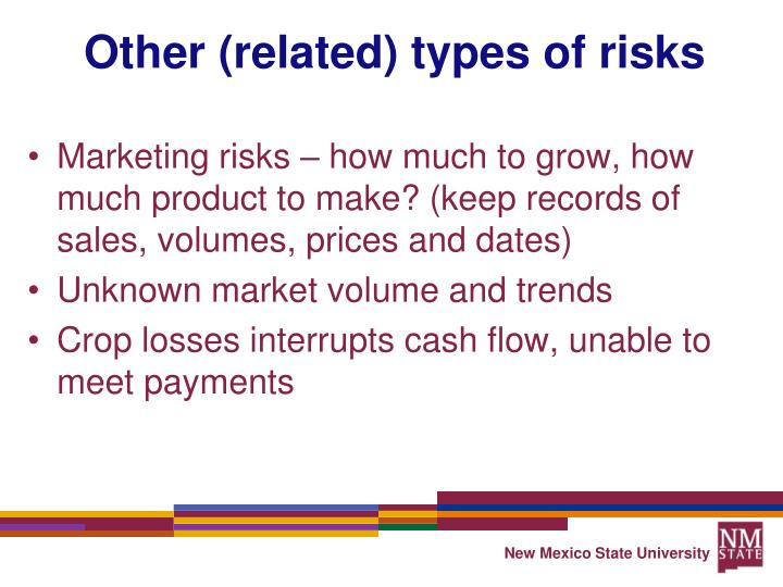 Other (related) types of risks