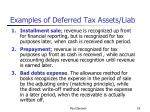examples of deferred tax assets liab