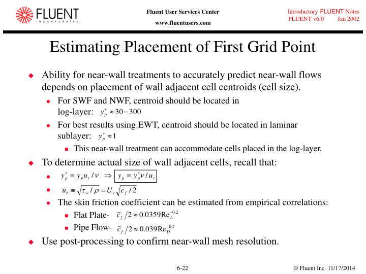 Estimating Placement of First Grid Point