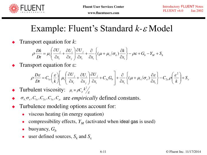 Example: Fluent's Standard