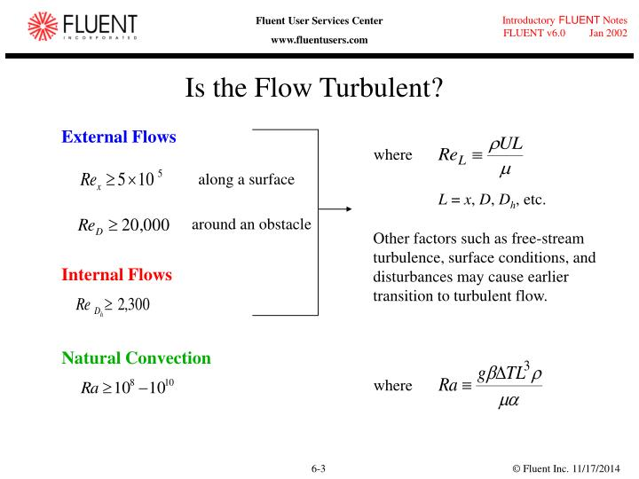 Is the flow turbulent