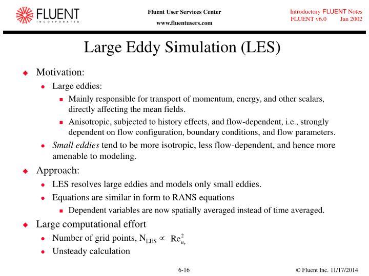 Large Eddy Simulation (LES)