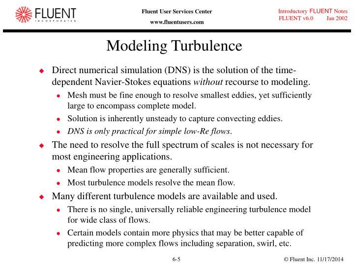 Modeling Turbulence