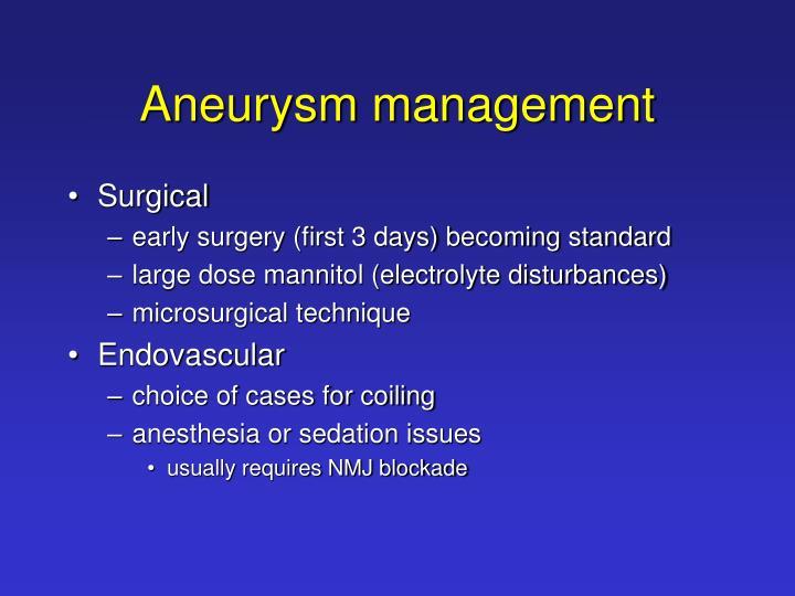 Aneurysm management