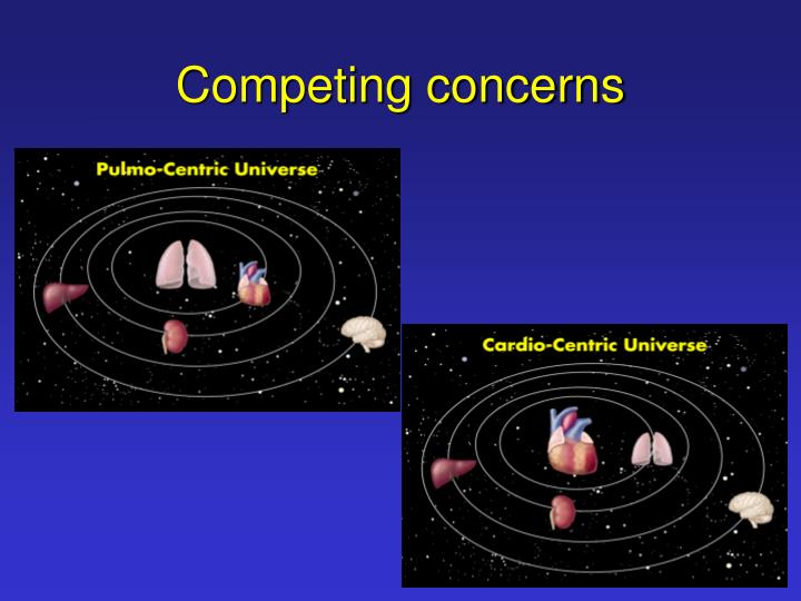 Competing concerns