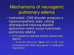 mechanisms of neurogenic pulmonary edema