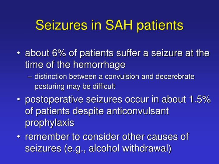 Seizures in SAH patients