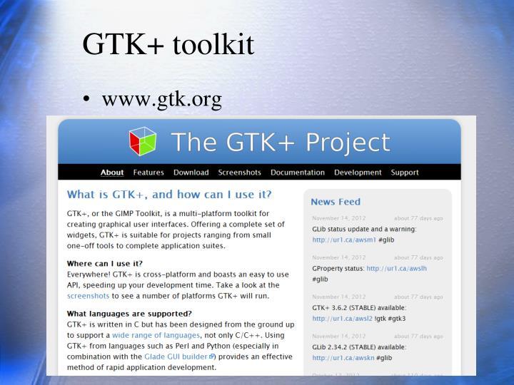 GTK+ toolkit