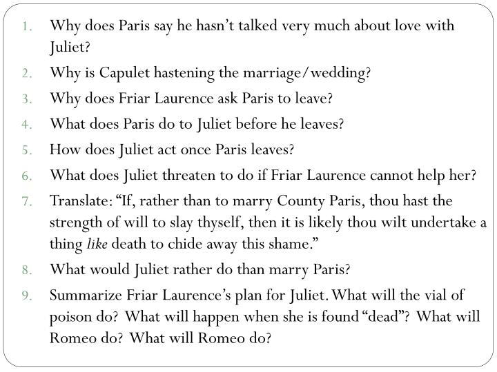 Why does Paris say he hasn't talked very much about love with Juliet?