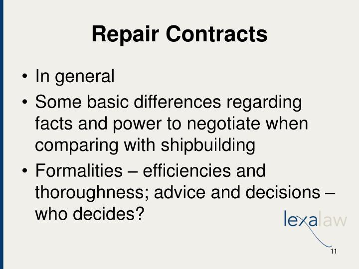 Repair Contracts