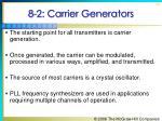 8 2 carrier generators