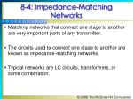 8 4 impedance matching networks