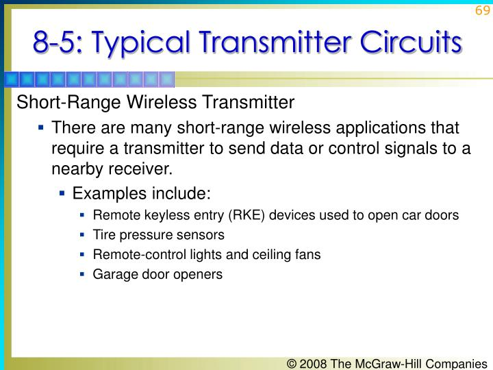 8-5: Typical Transmitter Circuits