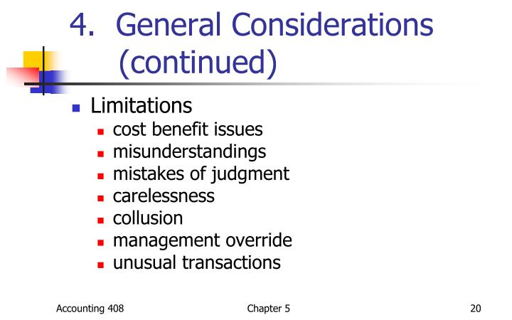 4.  General Considerations