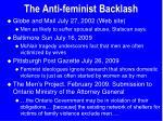 the anti feminist backlash