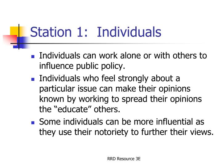 Station 1 individuals