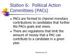 station 6 political action committees pacs