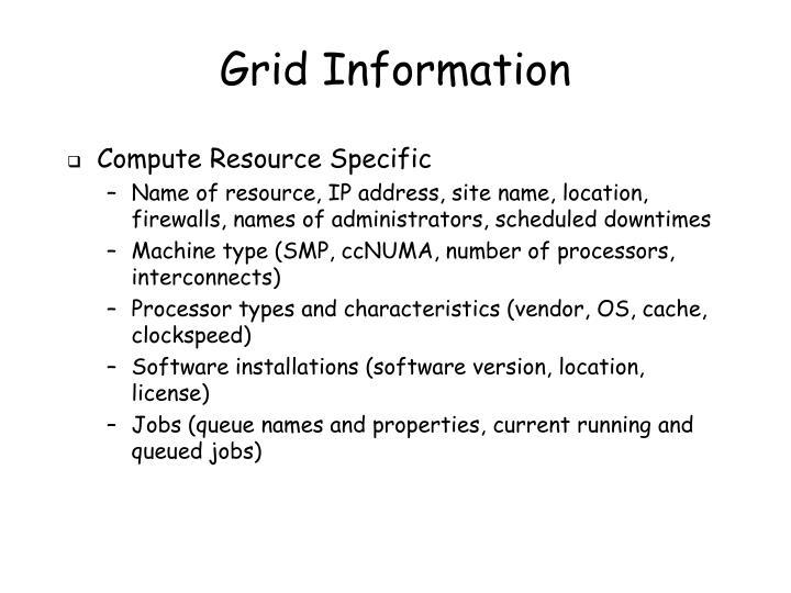 Grid Information