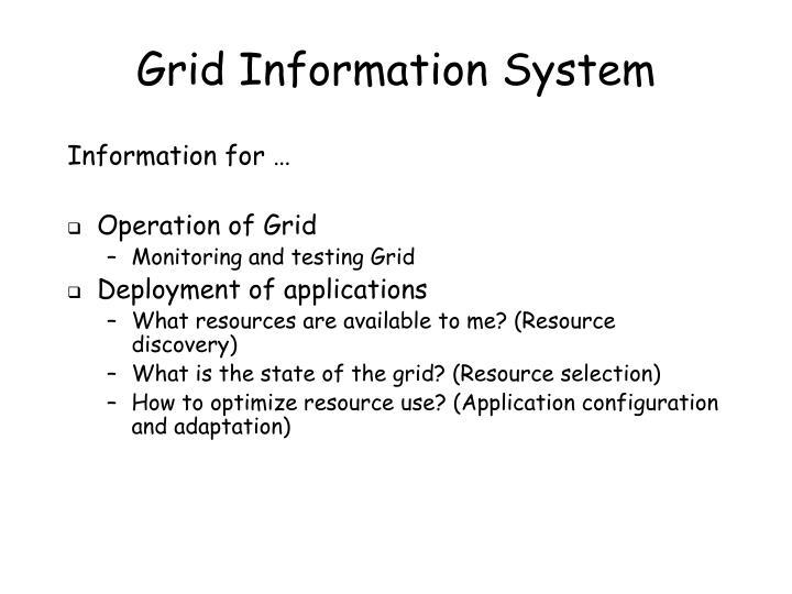 Grid Information System