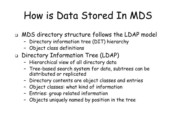 How is Data Stored In MDS
