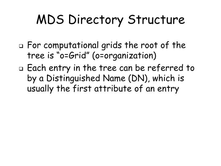 MDS Directory Structure