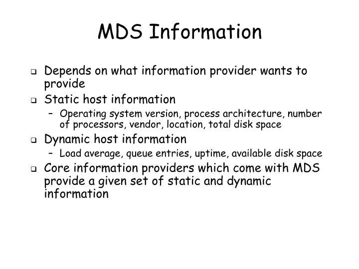 MDS Information