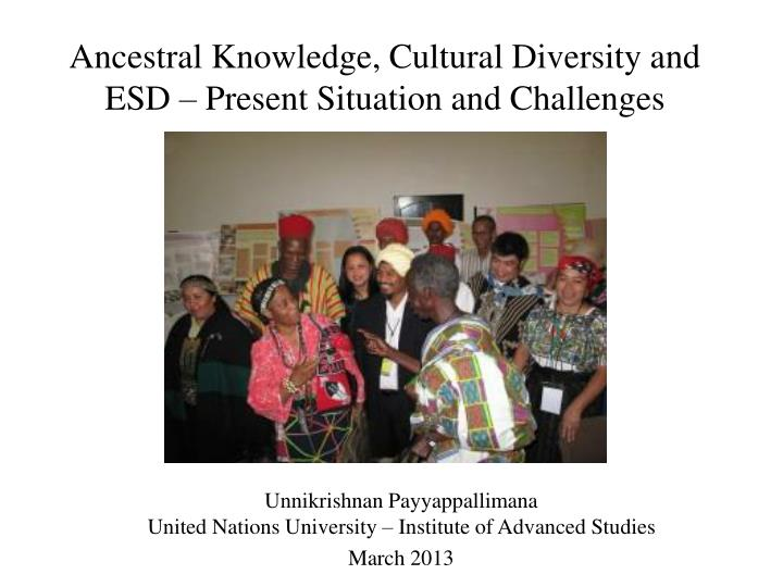 ancestral knowledge cultural diversity and esd present situation and challenges