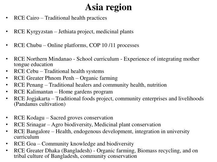 Asia region
