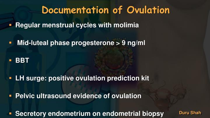 Documentation of Ovulation