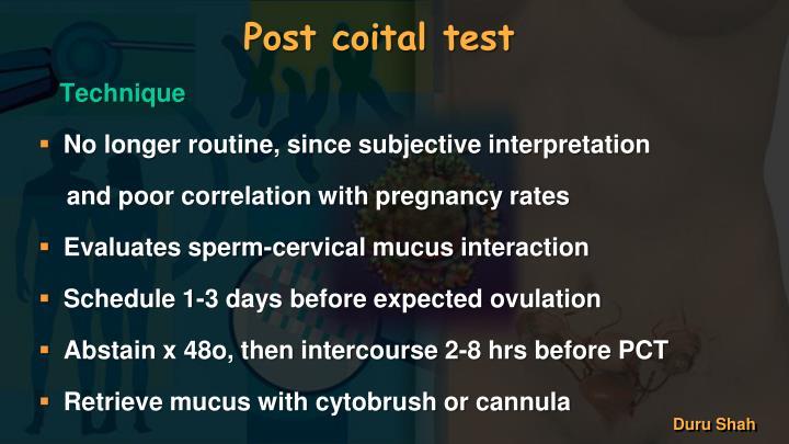 Post coital test